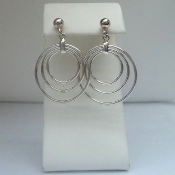 Multi Hoop Stud Earrings
